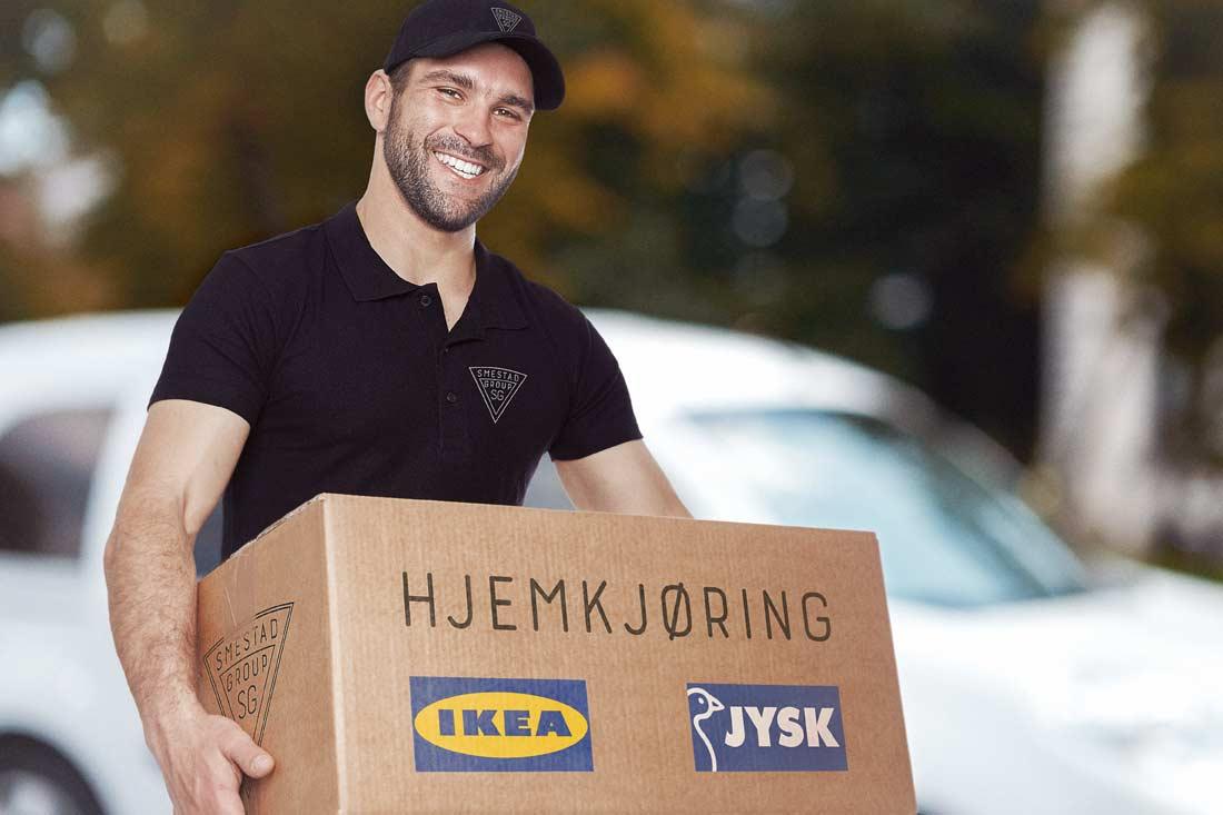 Smestad Group - hjemkjøring Ikea Jysk Furuset